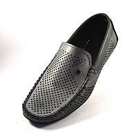 c1ec71a96e50 Мокасины серые мужская обувь большого размера нубук с перфорацией Rosso  Avangard Special Metalic 50