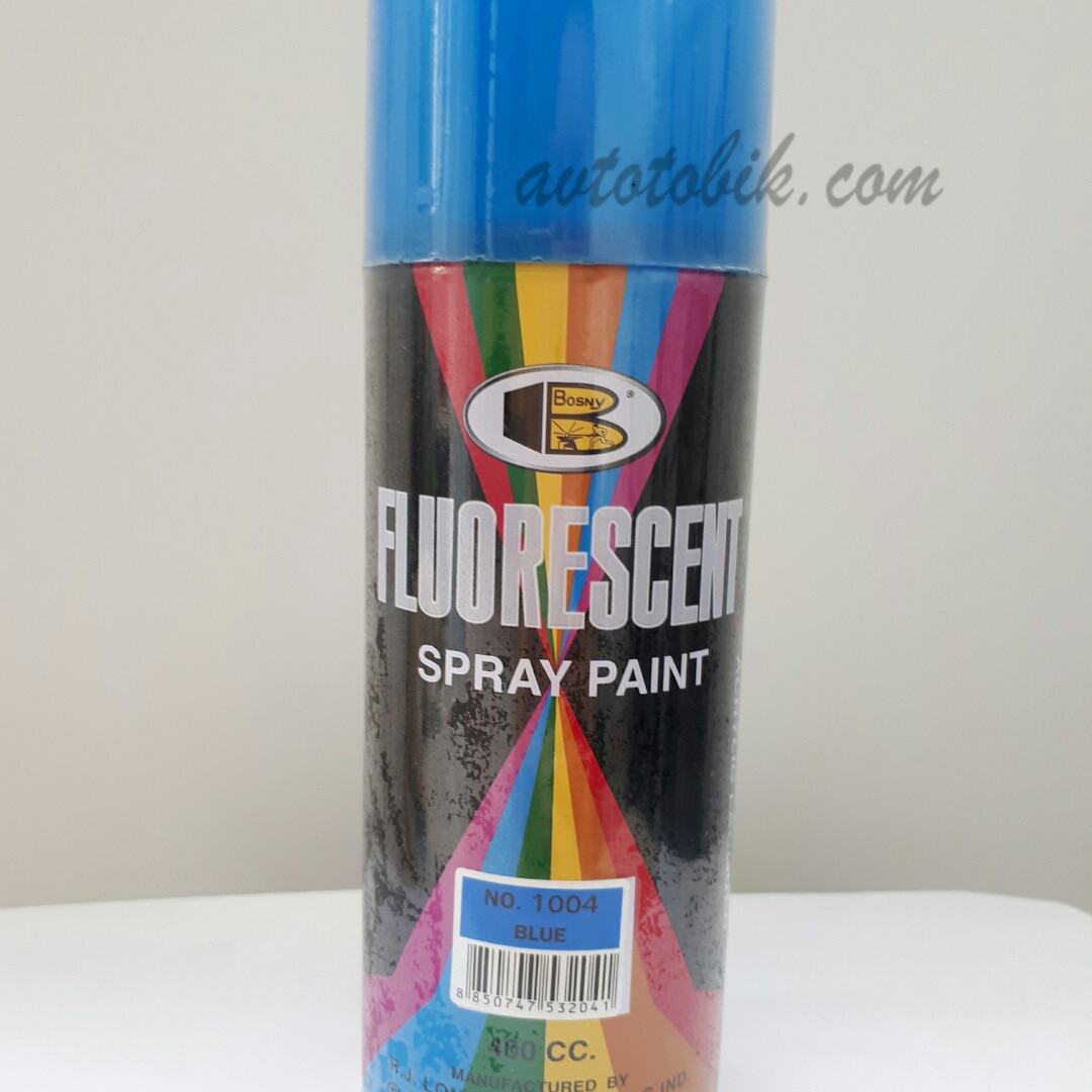 Акриловая флуоресцентная краска спрей BOSNY NO. 1004 BLUE (синий, голубой), 400мл