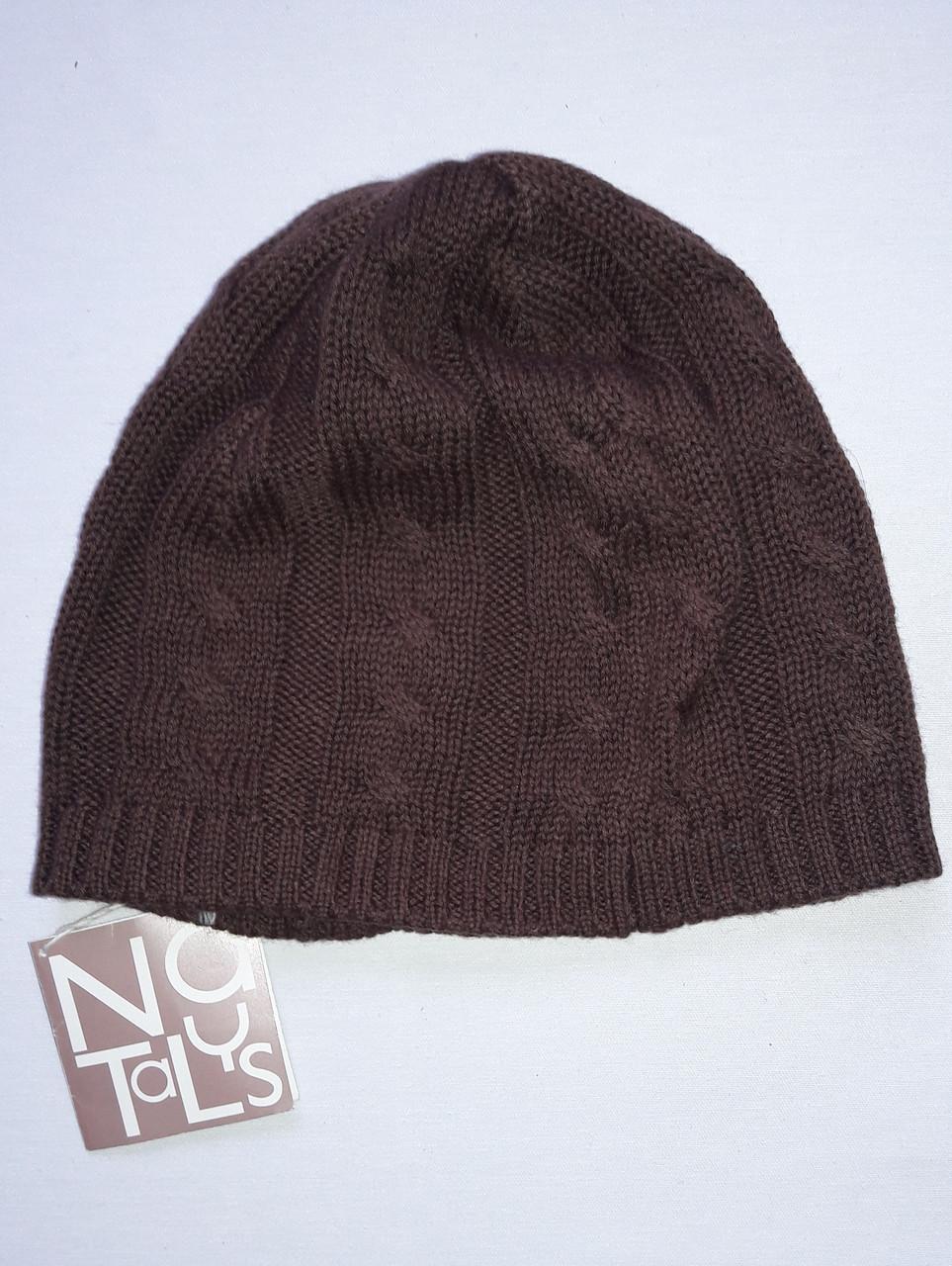 Детская шапочка Natalys коричневая