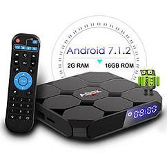 "Приставка Smart TV GooBang Doo ABOX A1 Max Android 7.1/2Gb RAM/16Gb ROM/4K ""Over-Stock"""