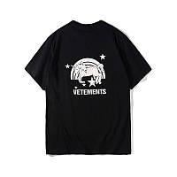 Футболка Vetements Unicorns & Rainbows черная с логотипом, унисекс (мужская,женская,детская)