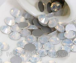 Стразы опалы стекло, белые ,размер СС4, 100шт