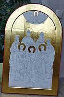 Золочение сусальным золотом икон большого формата с многофигурной композицией.