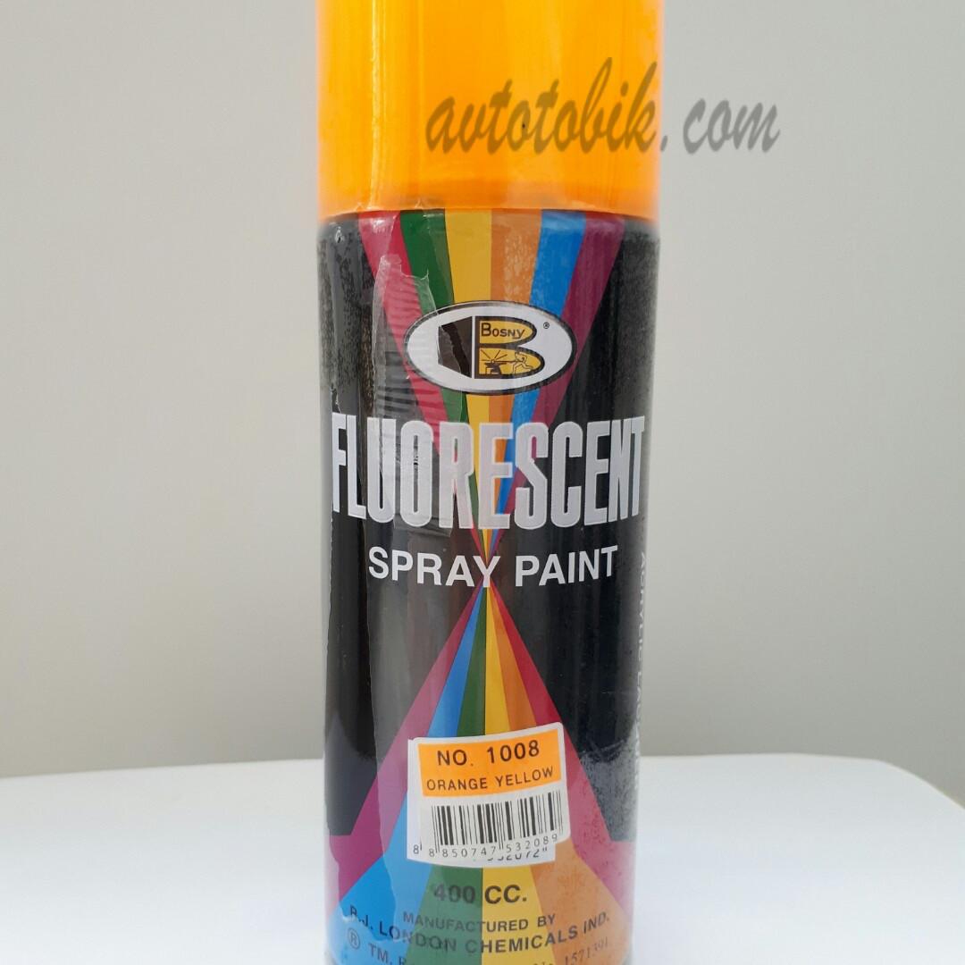 Акриловая флуоресцентная краска спрей BOSNY NO. 1008 ORANGE YELLOW (ярко оранжевый), 400мл