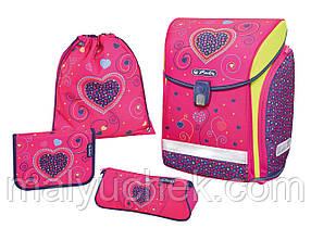 Ранец школьный Herlitz Midi Plus PINK HEART ZESTAW (7258214203)
