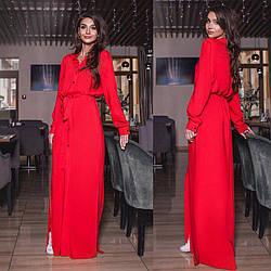 Красная рубашка из натуральной ткани