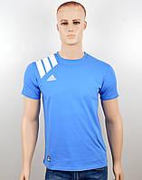 "Мужская футболка ""Adidas 18021"" св.синий, фото 1"