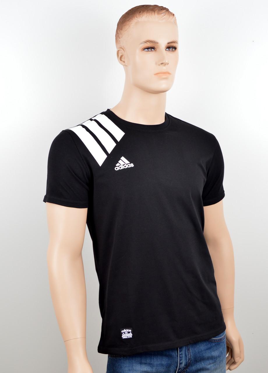 """Мужская футболка """"Adidas 18021"""" черный"""