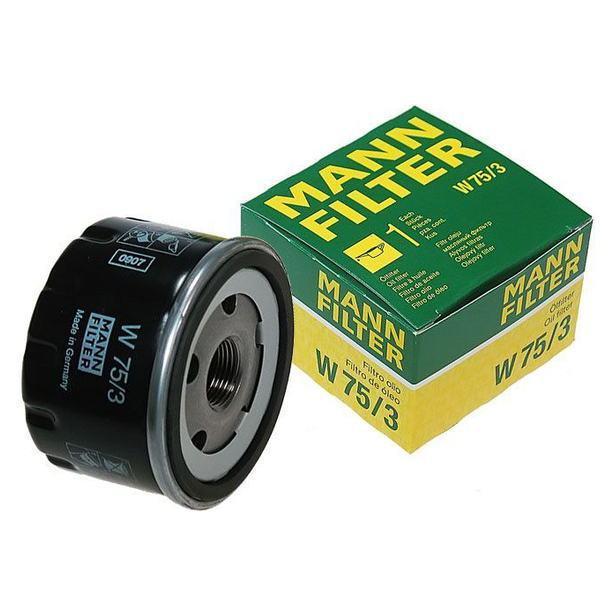 Масляный фильтр Mann W75/3 для Alfa, Dacia, Renault, Suzuki, Nissan, Opel