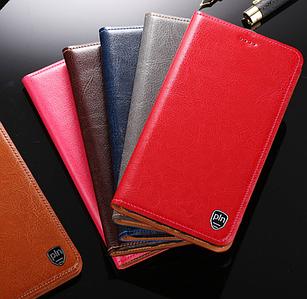 """LG X4 Plus оригинальный кожаный чехол книжка из натуральной кожи магнитный противоударный """"MARBLE"""""""