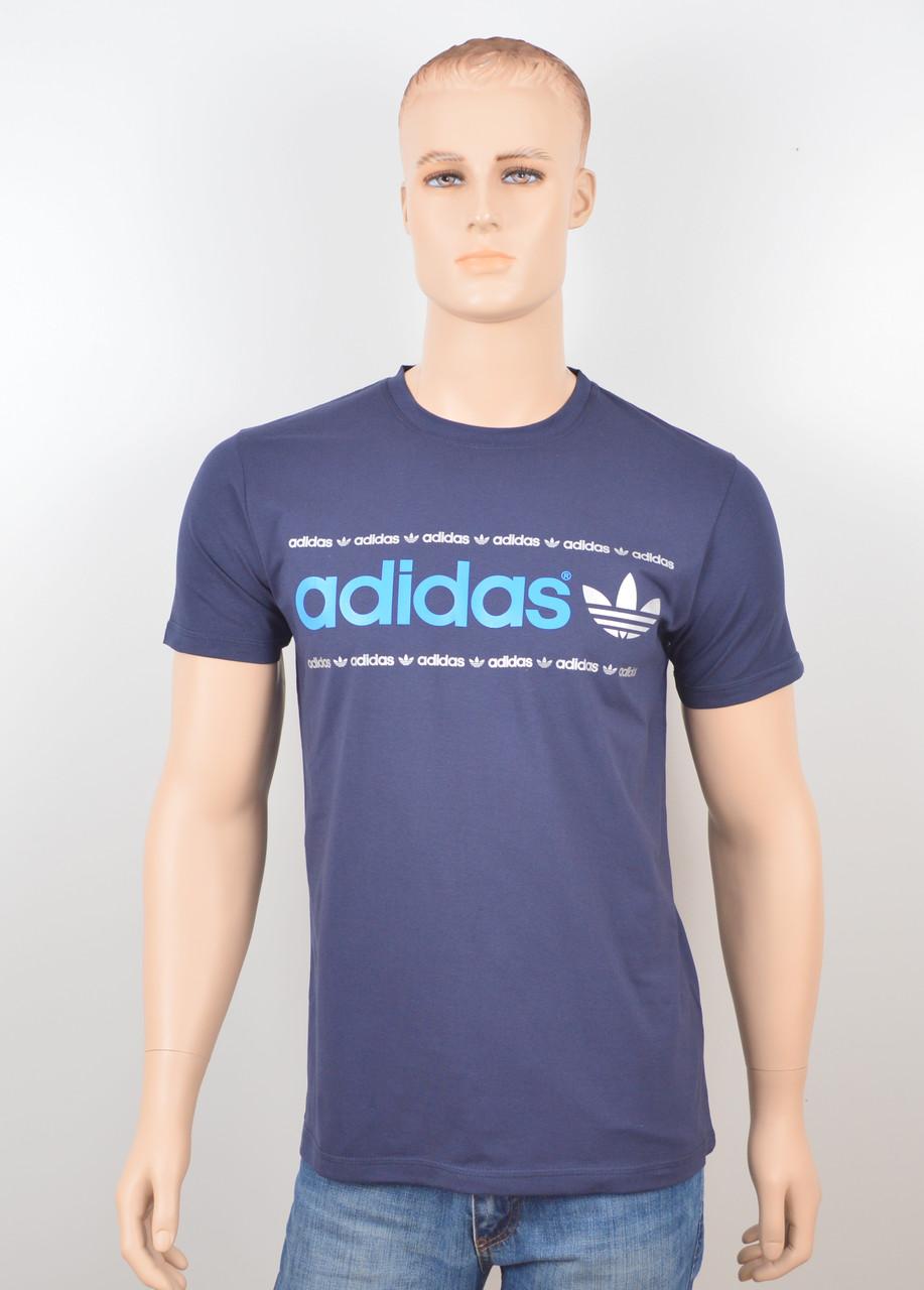 "Мужская футболка ""Adidas 18022"" синий"