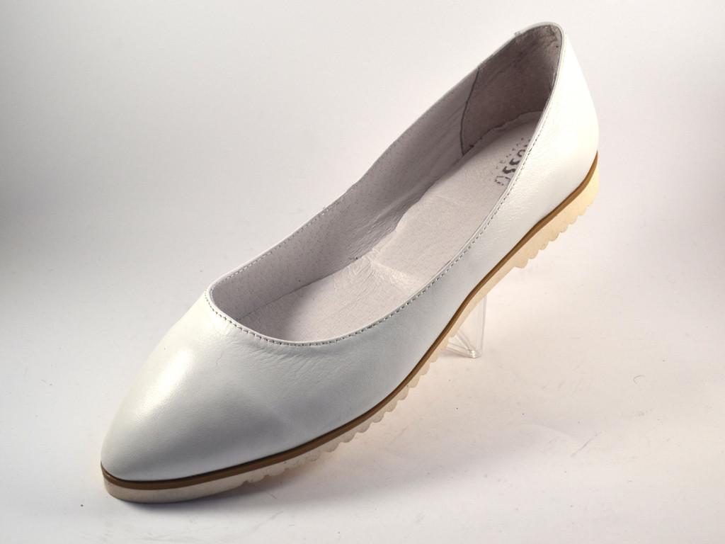 3c96f12de Балетки кожаные женская обувь больших размеров Gracia V Alba by Rosso  Avangard BS цвет белый