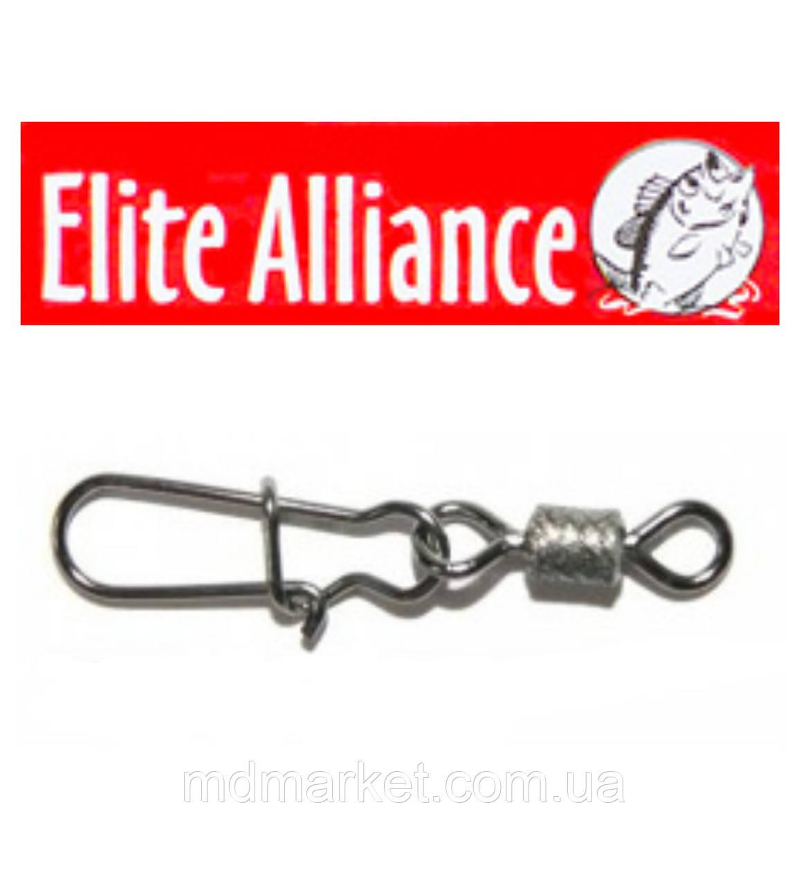 Карабін з вертлюгом Elite Alliance №12 10шт.