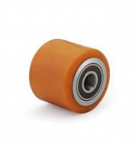 Ролики для гидравлическиx тележек полиуретан 80*70
