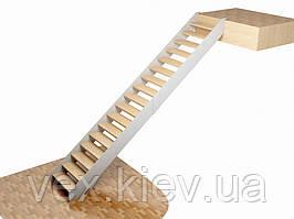 Прямой металлический каркас маршевой лестницы на тетивах. В дом. На второй этаж. Расчет