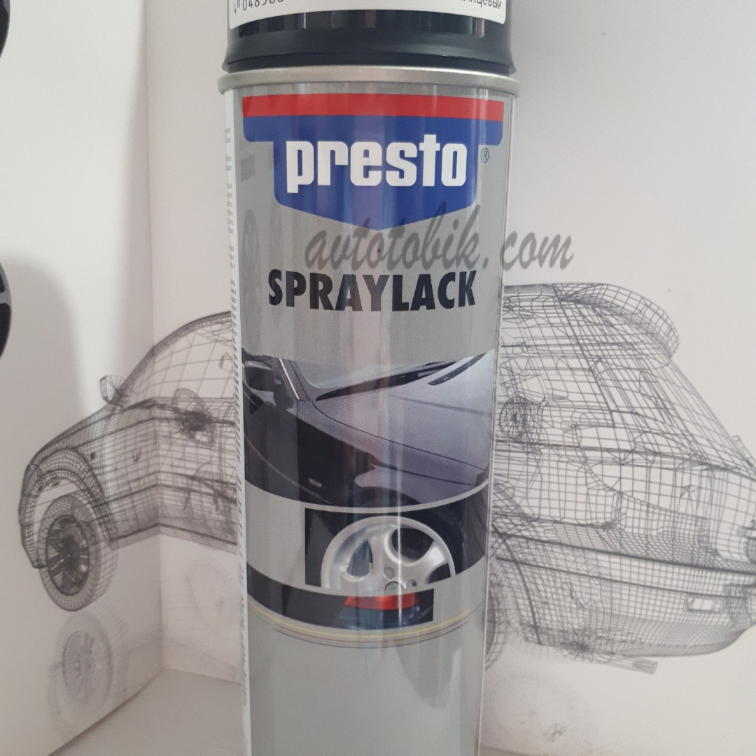 Акриловая аэрозольная спрей-краска PRESTO NO. 347337 Black glossy ( черный глянцевый ), 500мл