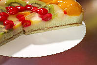 Картонная подложка для торта PURE ЗАЗУБРЕННЫЕ КРАЯ 28см  уп.100шт.