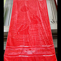 Пляжные  двусторонние полотенца яркие