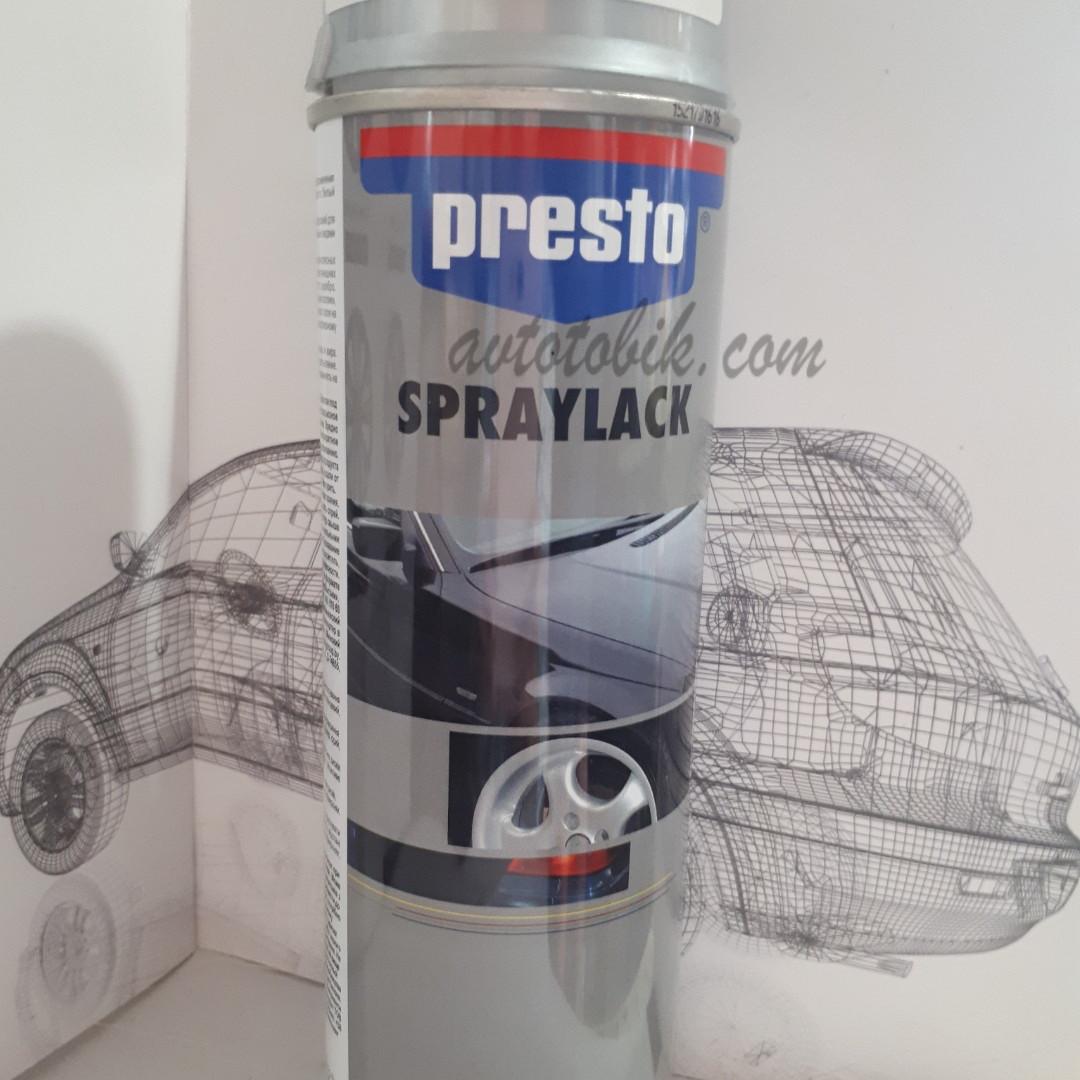 Акриловая аэрозольная спрей-краска PRESTO NO. 347207 Wheel Paint silver ( лак для ободов серебряный ), 500мл