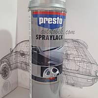 Акриловая аэрозольная спрей-краска PRESTO NO. 347207 Wheel Paint silver ( лак для ободов серебряный ), 500мл, фото 1