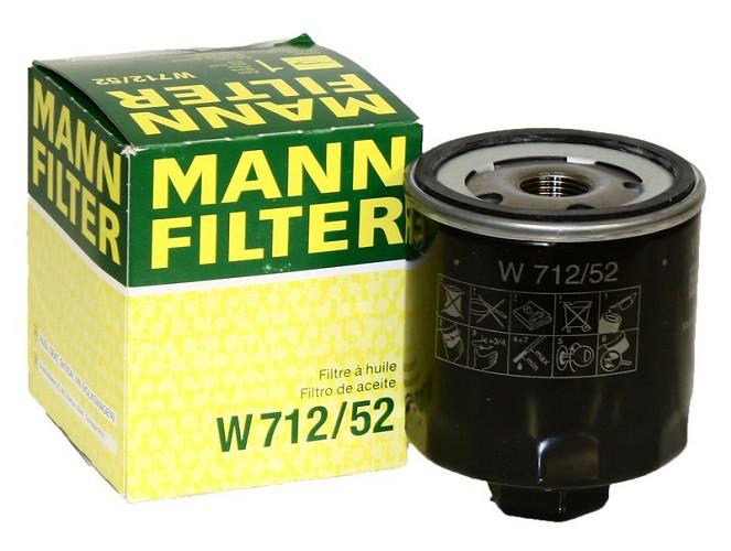 Масляный фильтр Mann W712/52 для Audi, Seat, Skoda, VW