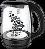 Электрический стеклянный чайник дисковый liberton LEK-1703