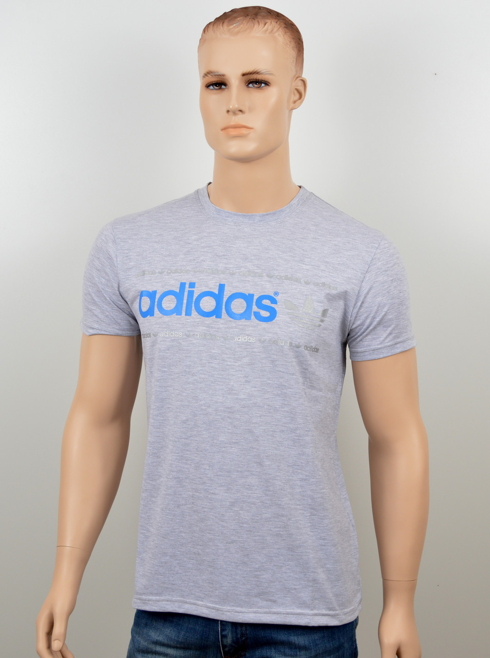 "Мужская футболка ""Adidas 18022"" меланж"