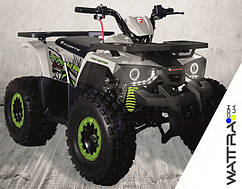 ⭐ Квадроцикл FORTE Hunter 125 бензиновый, бело-салатовый