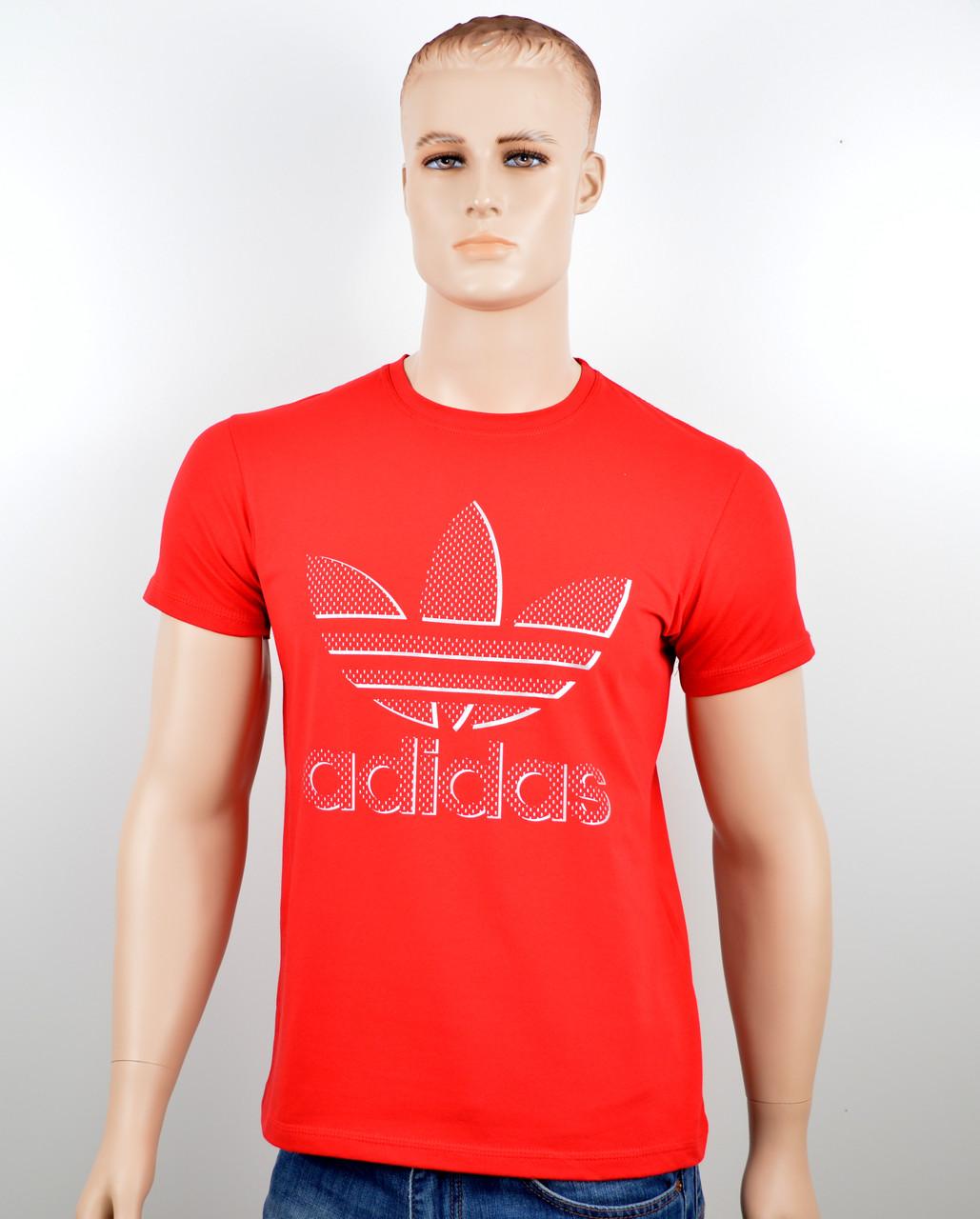 """Мужская футболка """"Adidas 18023"""" красный"""