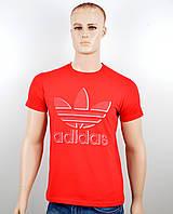 """Мужская футболка """"Adidas 18023"""" красный, фото 1"""