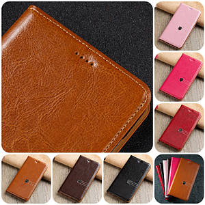 """SONY Z3+ DS E6533 оригинальный кожаный чехол книжка из натуральной кожи магнитный противоударный """"MARBLE SOFT"""""""
