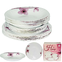 Набор обеденный 18пр. Орхидея (тарелки-7,5' и 9,5'; тарелка суп.-8,5')