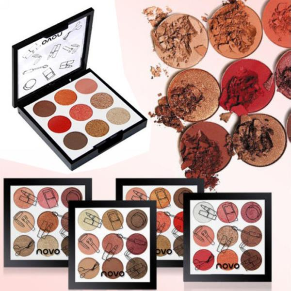 Novo 9 Colors Eyeshadow Palette Peach 04