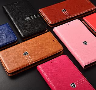 """Huawei P6 оригинальный кожаный чехол книжка из натуральной кожи магнитный противоударный """"BULL PL"""""""