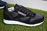 Мужские кроссовки Reebok classic leather Black, копия, фото 9