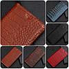 """Huawei P6 оригинальный кожаный чехол книжка из натуральной кожи магнитный противоударный """"CROCO GOLD"""""""