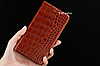 """HONOR 5C оригинальный кожаный чехол книжка из натуральной кожи магнитный противоударный """"CROCO GOLD"""", фото 3"""