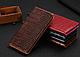 """Huawei P6 оригинальный кожаный чехол книжка из натуральной кожи магнитный противоударный """"CROCO GOLD"""", фото 3"""