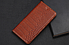 """HONOR 8 оригинальный кожаный чехол книжка из натуральной кожи магнитный противоударный """"CROCO GOLD"""", фото 6"""