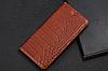 """Honor 9 Lite кожаный чехол книжка из натуральной кожи магнитный противоударный """"CROCO GOLD"""", фото 6"""