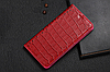 """HONOR 5X оригинальный кожаный чехол книжка из натуральной кожи магнитный противоударный """"CROCO GOLD"""", фото 9"""