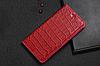"""HONOR 7 оригинальный кожаный чехол книжка из натуральной кожи магнитный противоударный """"CROCO GOLD"""", фото 9"""