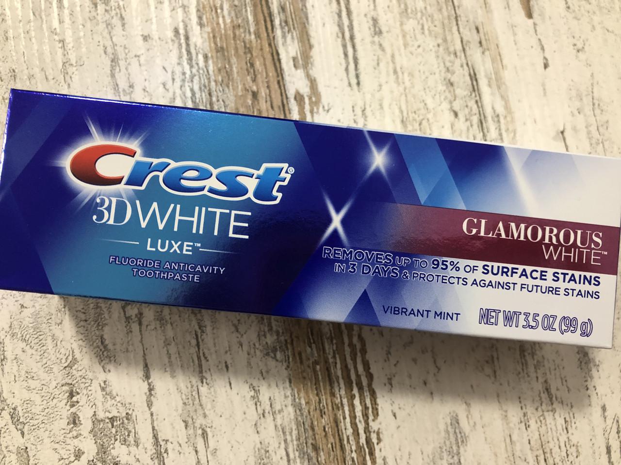 Отбеливание зубов класса люкс Crest 3D White Glamorous, 99 грамм