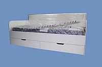 Кровать с выдвижными ящиками и мягкой спинкой Релакс, 1900 х 800