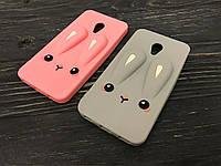 Резиновый 3D чехол Rabbit для Meizu M5 (2 цвета)