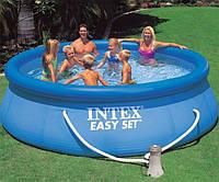 Семейный надувной.Intex Бассейн наливн. 28132 NP (1) фильтр-насос, размером 366х76см, объем: 5621л, вес: 15,1