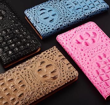 """Nokia Lumia 640 XL оригинальный кожаный чехол книжка из НАТУРАЛЬНОЙ ТЕЛЯЧЬЕЙ КОЖИ противоударный """"3D CROCO S"""