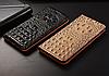 """LG V35 ThinQ оригинальный кожаный чехол книжка из натуральной кожи магнитный противоударный """"3D CROCO S"""", фото 3"""