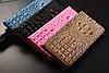 """LG V35 ThinQ оригинальный кожаный чехол книжка из натуральной кожи магнитный противоударный """"3D CROCO S"""", фото 4"""