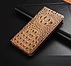 """LG V35 ThinQ оригинальный кожаный чехол книжка из натуральной кожи магнитный противоударный """"3D CROCO S"""", фото 6"""